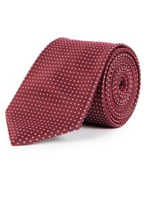Burgundy Spot Tie