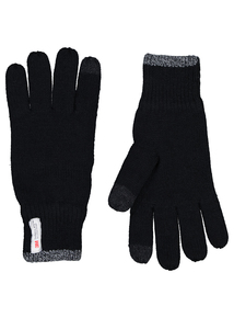 3M Thinsulate Black Touch Screen Knitted Gloves