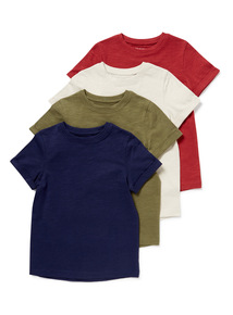 4 Pack Multicoloured T-Shirts (3-14 years)