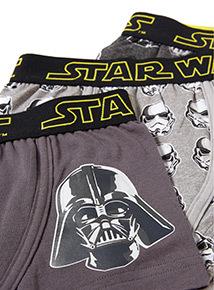 3 Pack Black Disney Star Wars Trunks (3-12 years)