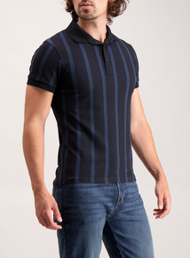 Frontman Navy Vertical Stripe Polo