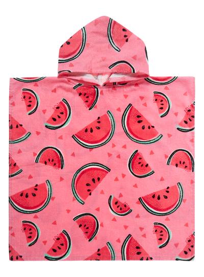 eae3f7265e Kids Girls Pink Watermelon Poncho | Tu clothing