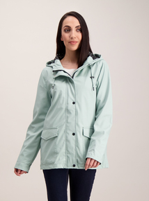 Online Exclusive Mint Green Shower Resistant Raincoat