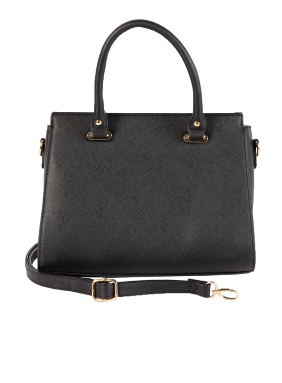 7ebb50c1893e2 Womens Black Classic Small Handbag With Detachable Shoulder Strap ...