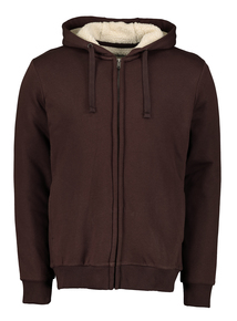 Brown Borg Fleece Lined Hoodie