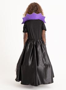 Halloween Purple Vampiress Costume (3-12 Years)