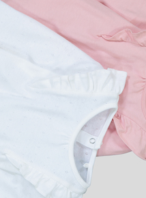 Pink & Cream Frill Bodysuits 2 Pack (0-24 months)