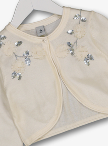 Cream Sequin Detail Bolero (3-14 years)