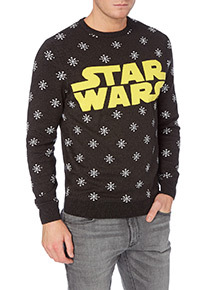 Charcoal Disney Star Wars Knitted Jumper