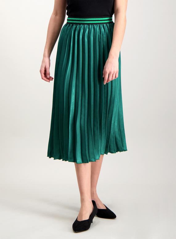 f8a65171cdb3 Womens Emerald Green Pleated Midi Skirt | Tu clothing