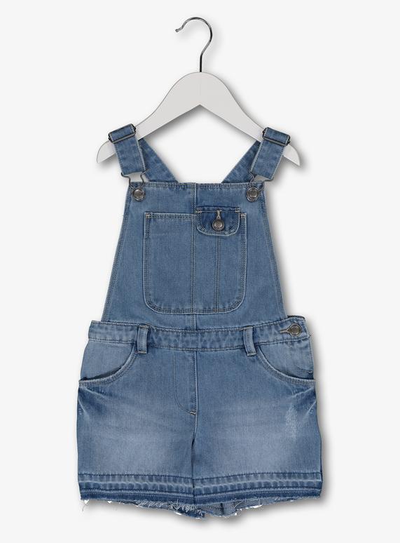 47c095a2423a3 Kids Blue Denim Short Dungarees (3-14 Years)   Tu clothing