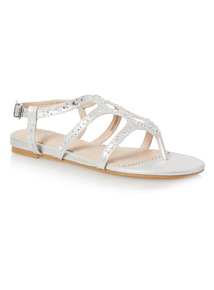 Silver Caged Sandal