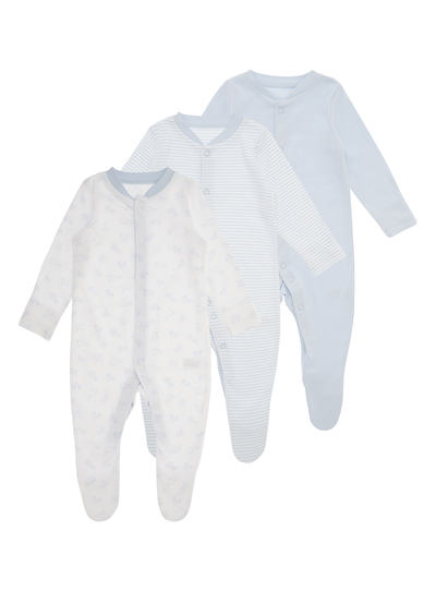 Blue Sleepsuits 3 Pack (0-24 months)