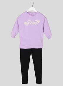 Pink & Black Sweatshirt & Leggings (1.5 - 6 Years)