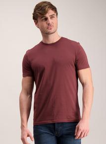 Burgundy Crew Neck T-Shirt