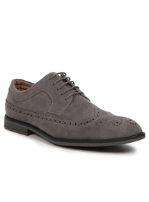 Grey Lace Up Brogue Shoes