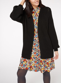 Black Balloon Sleeve Cardigan
