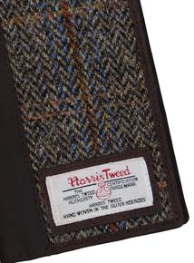 Harris Tweed & Leather Passport Holder