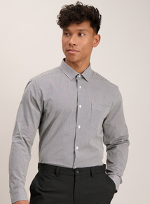 Monochrome Gingham Slim Fit Shirts 2 Pack