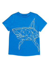 Blue Shark Print T-Shirt (3-14 years)