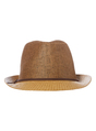 Thumbnail of SKU: HESSIAN TRILBY WITH LEATHER LOOK BAND:Stone