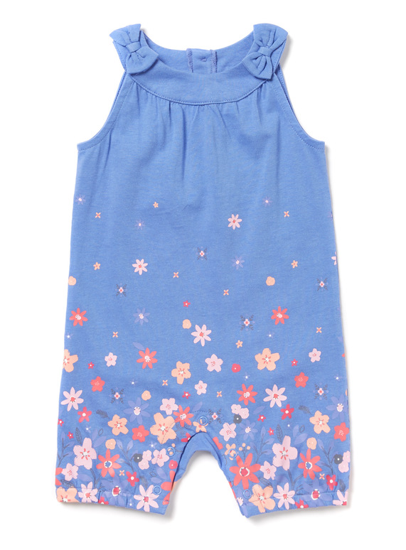 592f9b33a Baby Blue Floral Print Jersey Romper (0-24 months)   Tu clothing