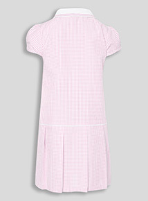 Online Exclusive Pink Sporty Gingham Dress (3-12 years)