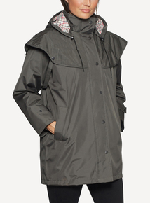DAVID BARRY Green Waterproof Storm Jacket