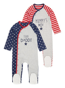 Boys Sleepsuits 2 Pack (0 - 24 months)
