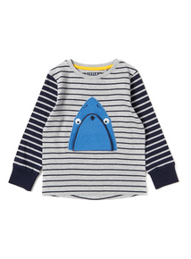 Multicoloured Striped Shark T-Shirt (9 months-6years)