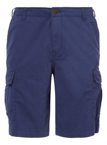 Blue Basic Cargo Shorts