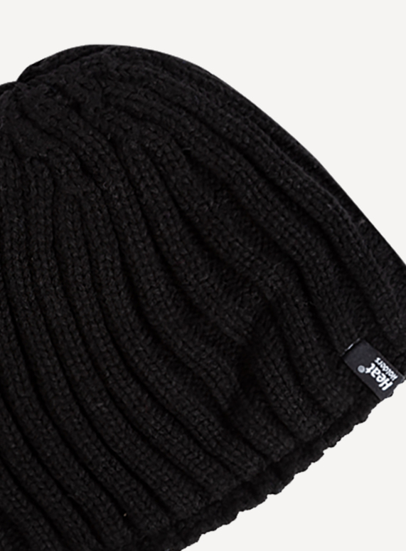 ad4c9759cb6 Menswear SockShop Heat Holders Black Beanie Hat