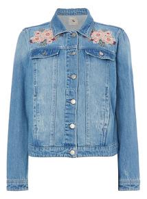 Denim Embroidered Jacket