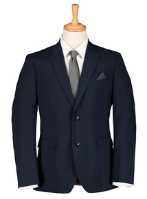 Navy Tailored Dogtooth Suit Jacket