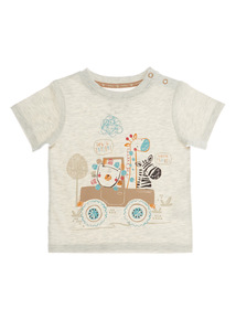 Cream Safari Jeep Tee (0 - 24 months)