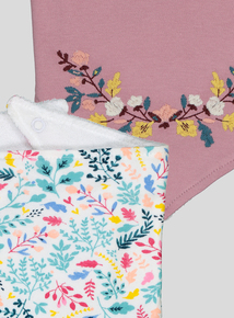 2 Pack Pink Autumn Bloom Hanky Bibs (one size)