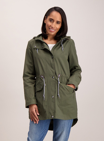 Online Exclusive Khaki Jersey Lined Parka