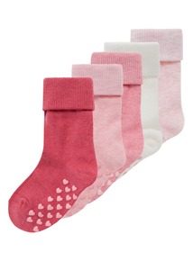 Girls Multicoloured Roll Top Socks 5 Pack (0-24 months)
