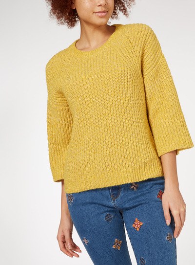 Wide Sleeve Boxy Jumper