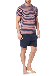 Navy Stripe T-shirt and Short Set