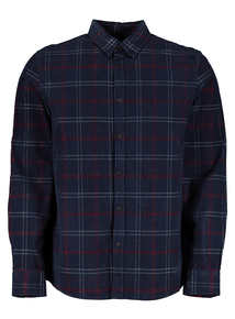 Multicoloured Check Regular Fit Cord Shirt