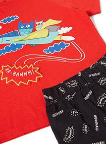 Multicoloured Monster Superhero Pyjamas (9 months-6 years)