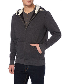 Charcoal Marl Zip Front Sweat