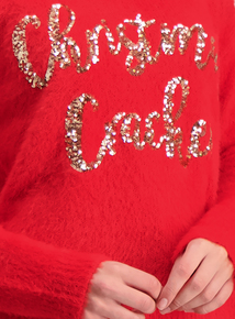 Red 'Christmas Cracker' Sequin Jumper