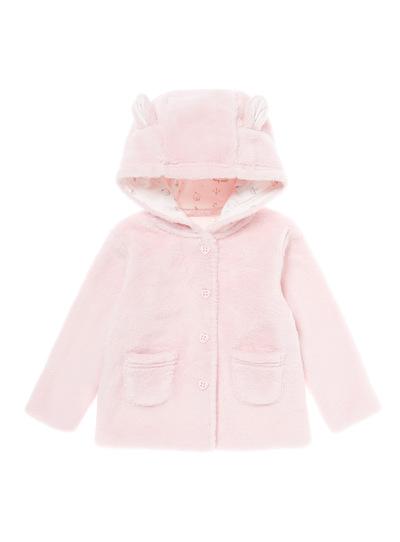 Pink Cloud Fur Jacket (0-12 months)