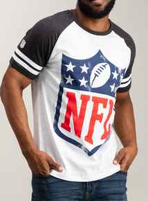 NFL Shield White Raglan T-Shirt