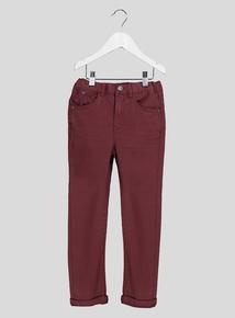Burgundy Chino Jeans (3-12 years)