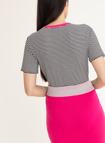 GFW Slogan Striped T-Shirt