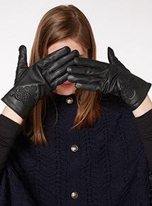 Leather Stitch Detail Glove