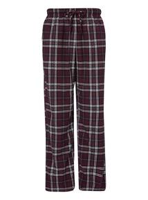 Purple Fleece Check Pyjama Trouser